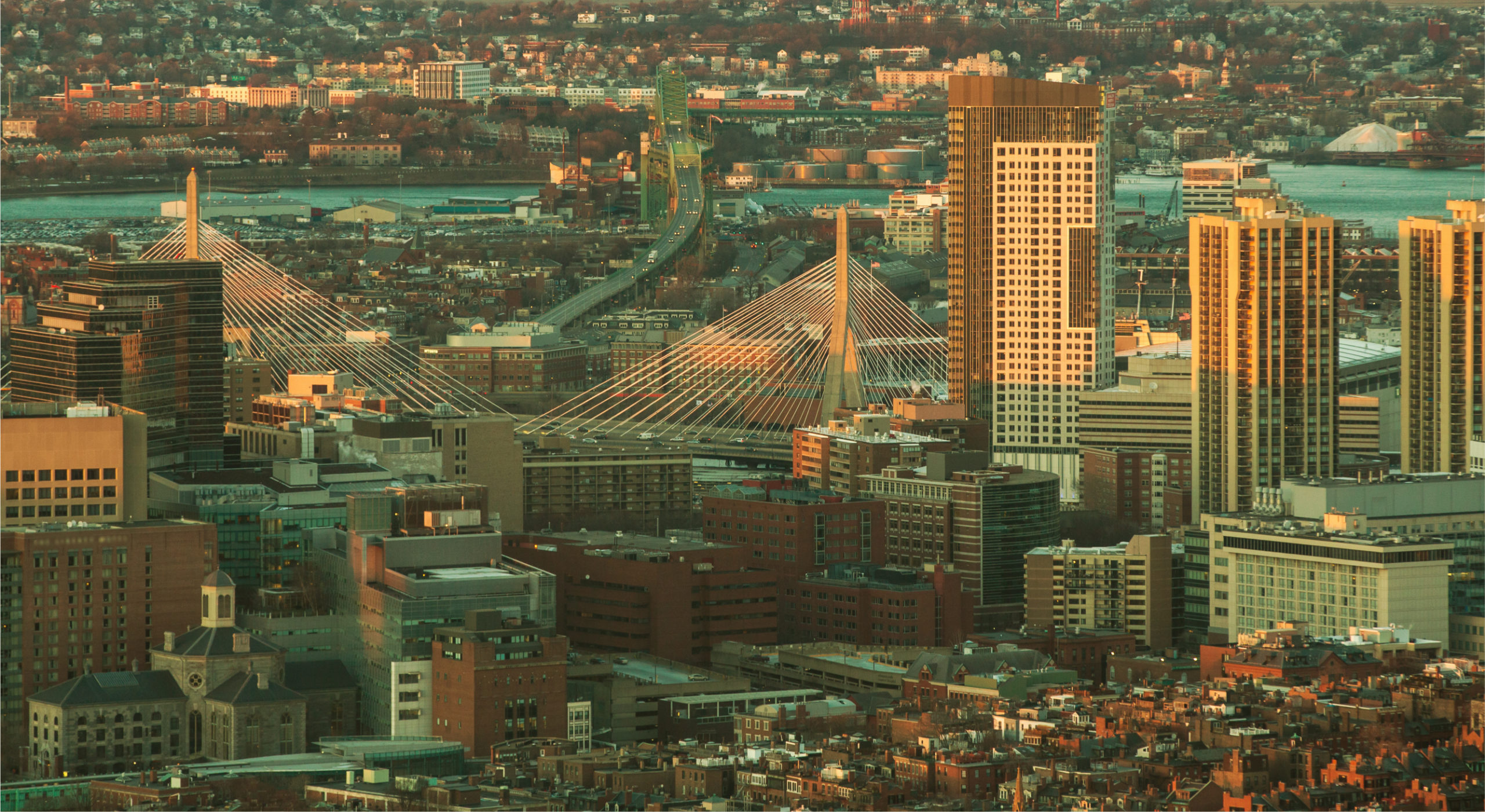 East Coast City Aerial - Boston